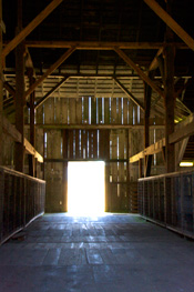 barn with light